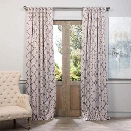 Seville Tan Blackout Room Darkening Curtain
