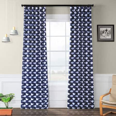 Migaloo Navy Room Darkening Curtain
