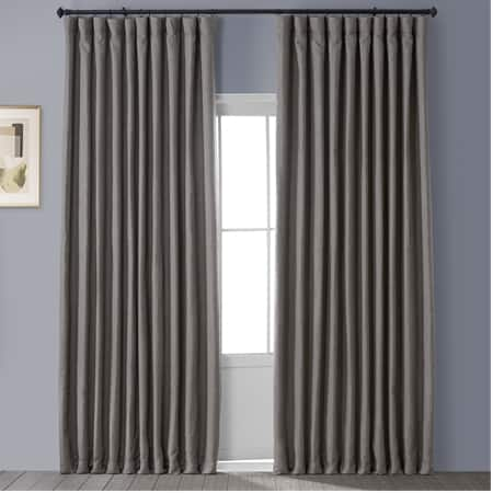 Mink Faux Linen Extra Wide Blackout Room Darkening Curtain