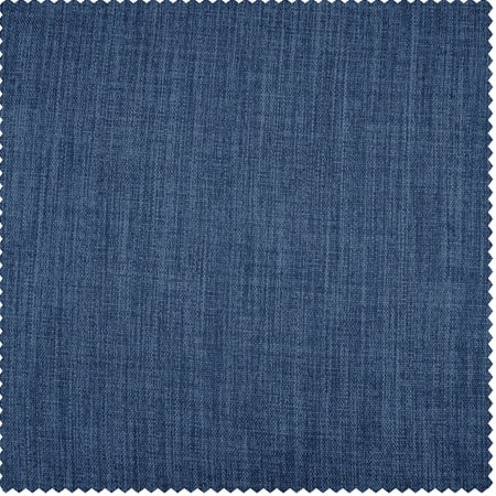 Denim Faux Linen Blackout Room Darkening Swatch