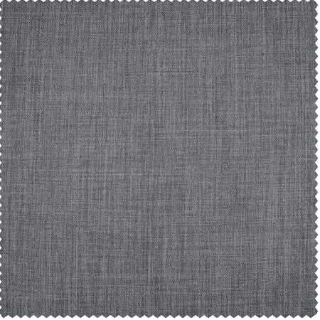 Blazer Grey Faux Linen Blackout Room Darkening Swatch