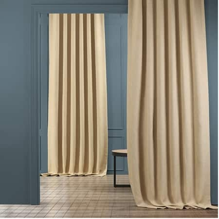 Millet Faux Linen Room Darkening Curtain