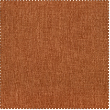 Desert Orange Faux Linen Blackout Room Darkening Swatch