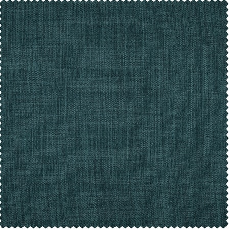 Slate Teal Faux Linen Blackout Room Darkening Swatch