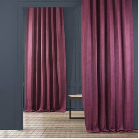 Mulberry Faux Linen Room Darkening Curtain