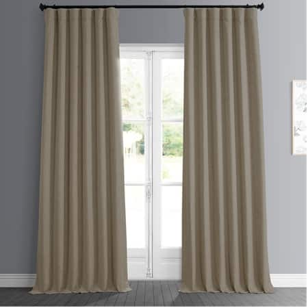 Nomad Tan Faux Linen Room Darkening Curtain