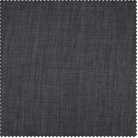 Dark Gravel Faux Linen Blackout Room Darkening Swatch