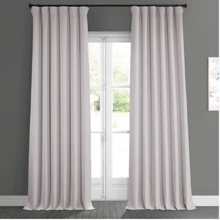 Birch Faux Linen Blackout Curtain