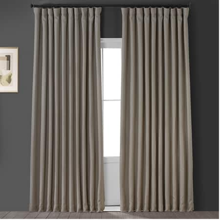 Oatmeal Faux Linen Extra Wide Blackout Room Darkening Curtain