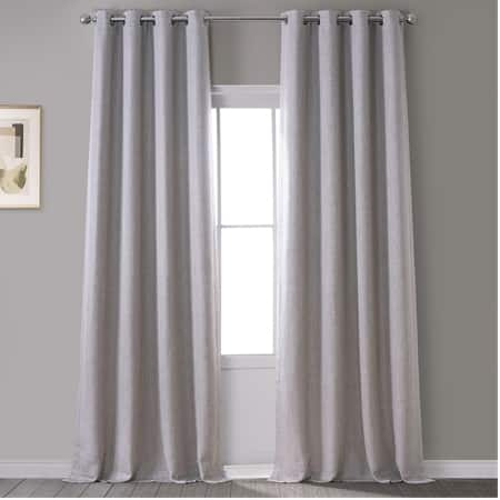 Clay Faux Linen Grommet Blackout Room Darkening Curtain