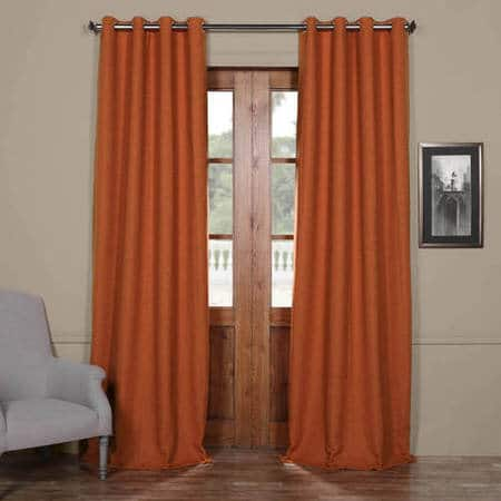 Persimmon Bellino Grommet Room Darkening Curtain