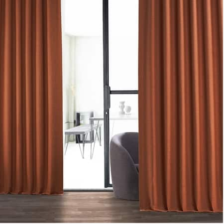 Persimmon Bellino Room Darkening Curtain