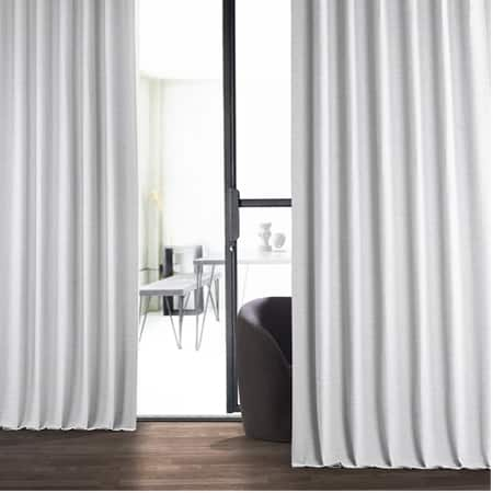 Chalk Off White Bellino Blackout Room Darkening Curtain