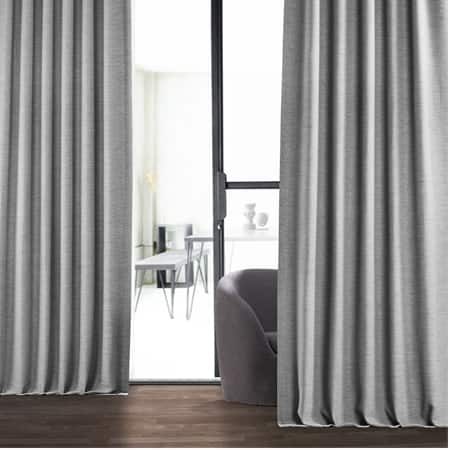 Vista Grey Bellino Room Darkening Curtain