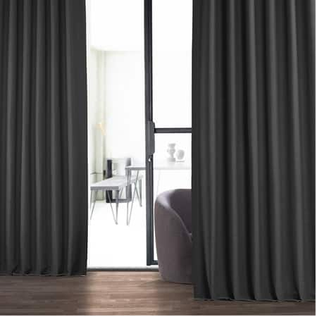 Smoked Truffle Bellino Blackout Room Darkening Curtain