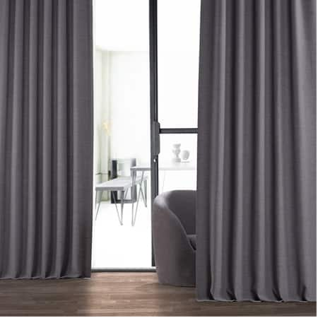 Armour Grey Bellino Blackout Room Darkening Curtain