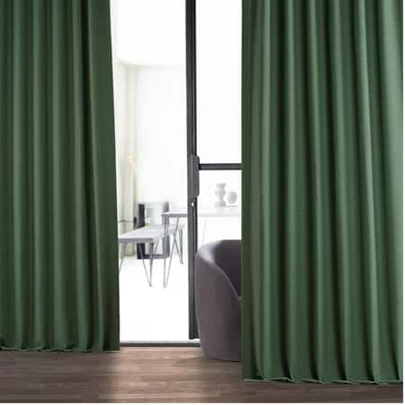 Pine Forest Green Bellino Room Darkening Curtain