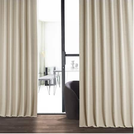 Cottage White Bellino Blackout Room Darkening Curtain