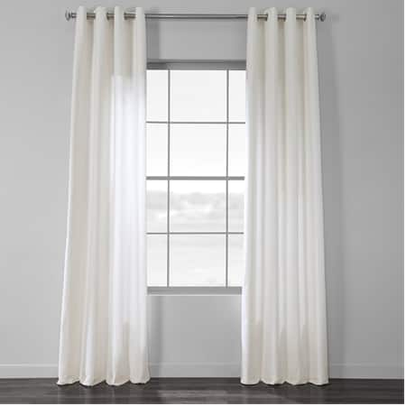 Pacific Pearl Country Cotton Linen Weave Grommet Curtain