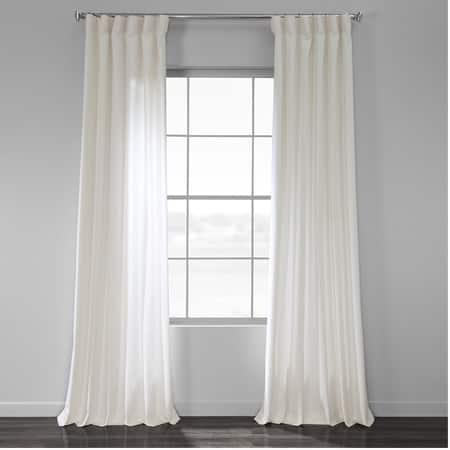 Pacific Pearl Country Cotton Linen Weave Curtain