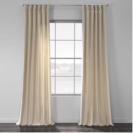 Light Beige Cotton Textural LinenWeave Curtain