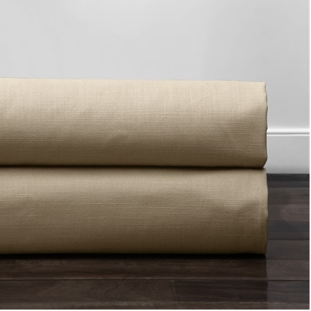 Camel Tan Cotton Textural LinenWeave Fabric