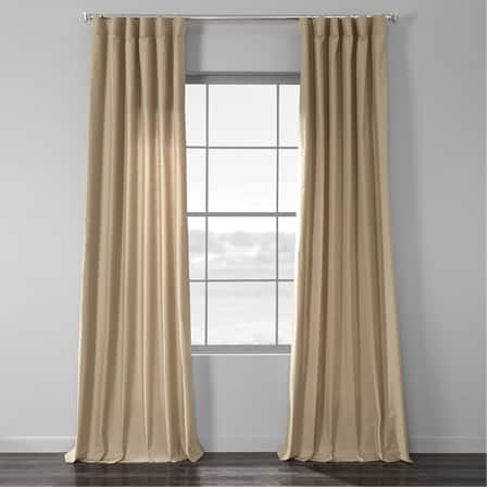 Camel Country Cotton Linen Weave Curtain