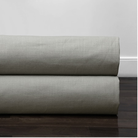 Mist Grey Cotton Textural LinenWeave Fabric
