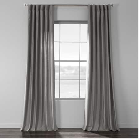 Shadow Grey Country Cotton Linen Weave Curtain