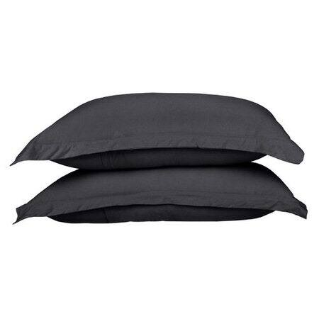 Cotton Jersey Dark Grey Pillow Cases