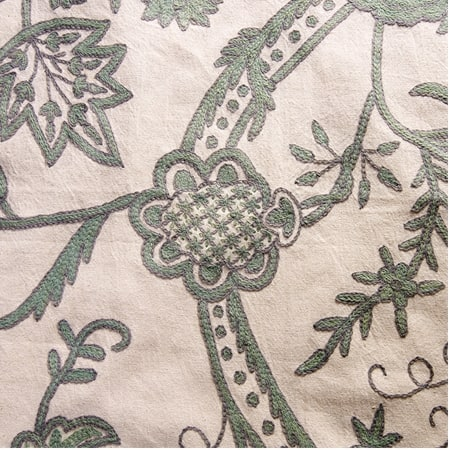 Sophie Embroidered Cotton Crewel Fabric