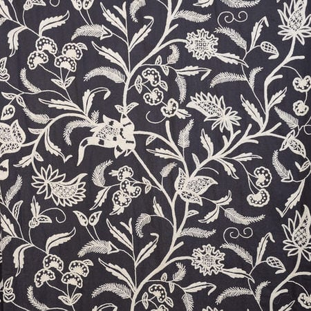 Francisco Embroidered Cotton Crewel Fabric