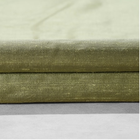 Paradise Green Textured Dupioni Silk Fabric