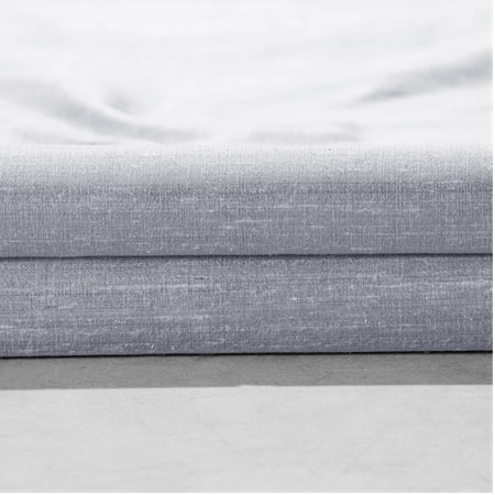 Mineral Grey Textured Dupioni Silk Fabric