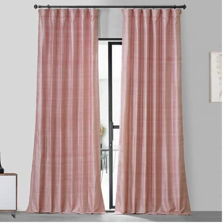Desert Pink Textured Dupioni Silk Curtain