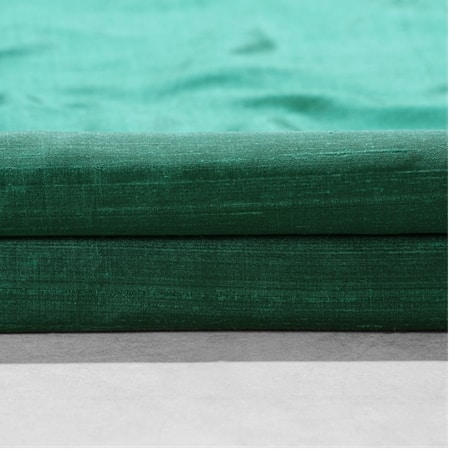 Carnival Green Textured Dupioni Silk Swatch