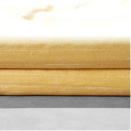 Honey Gold Textured Dupioni Silk Swatch