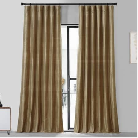 Livingstone Taupe Textured Dupioni Silk Curtain