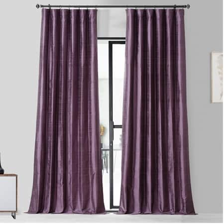 Prussian Plum Textured Dupioni Silk Curtain