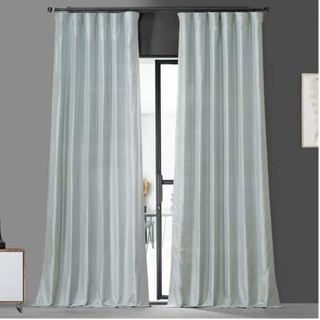 Siberian Ice Textured Dupioni Silk Curtain