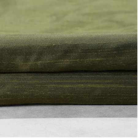 Dark Basil Textured Dupioni Silk Swatch