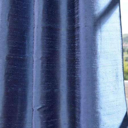 Winter Blue Textured Dupioni Silk Fabric
