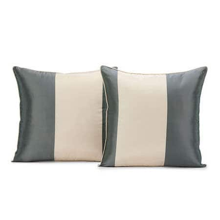 Nob Hill Silk Stripe Cushion Cover - Pair