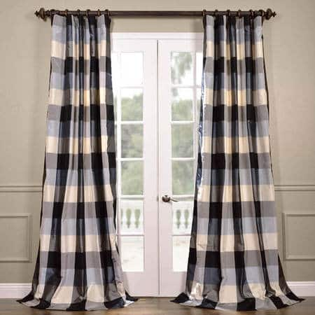 NEW: Oxford Silk Plaid Curtain
