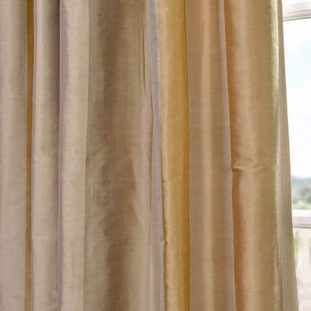 Palm Springs Silk Stripe Curtain
