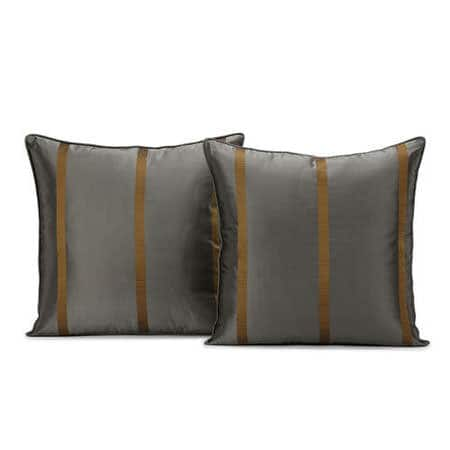 Preston Silk Taffeta Stripe Cushion Cover - Pair