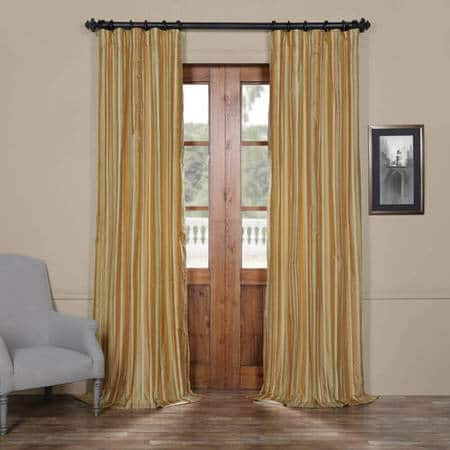 Castleford Stripe Silk Curtain