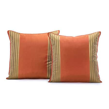 Waterford Sienna Silk Stripe Cushion Cover - Pair