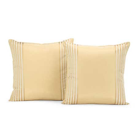 Waterford Sand Silk Stripe Cushion Cover - Pair