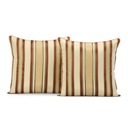 Toscano Silk Taffeta Stripe Cushion Cover - Pair